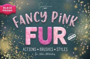 Fanсy Pink Fur Photoshop Effect 5611085 5