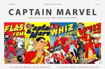 Captain Marvel Procreate Brushes 5552436 2