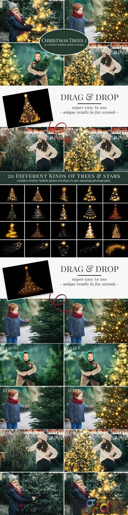 Christmas Trees photo overlays 5636334 1