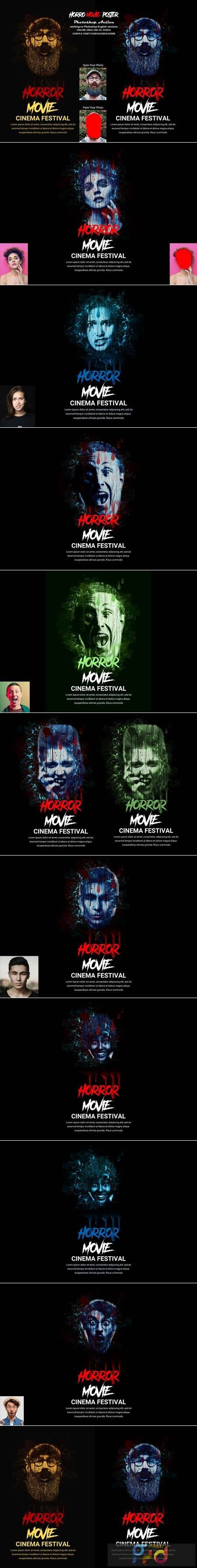 Horror Movie Poster Photoshop Action 5505575 1