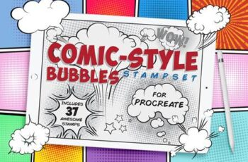 Comic Bubble Procreate Stamp 4579709 7