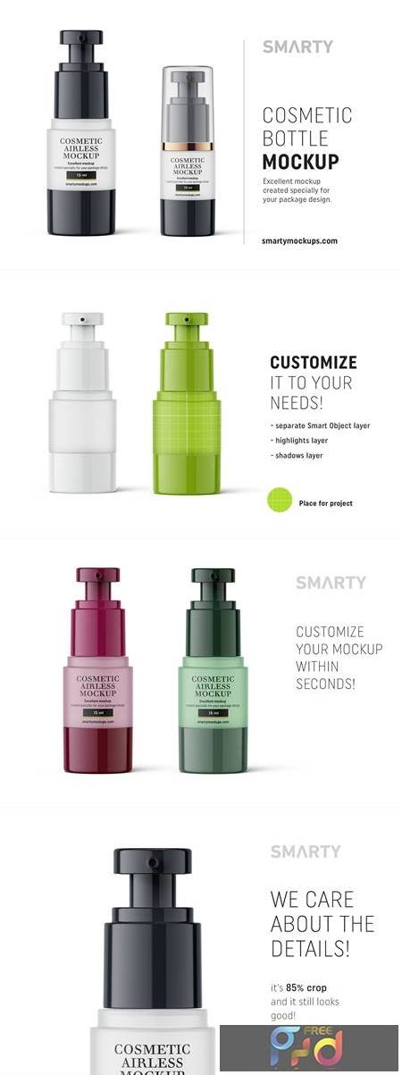 Cosmetic airless bottle mockup 15ml 4835169 1
