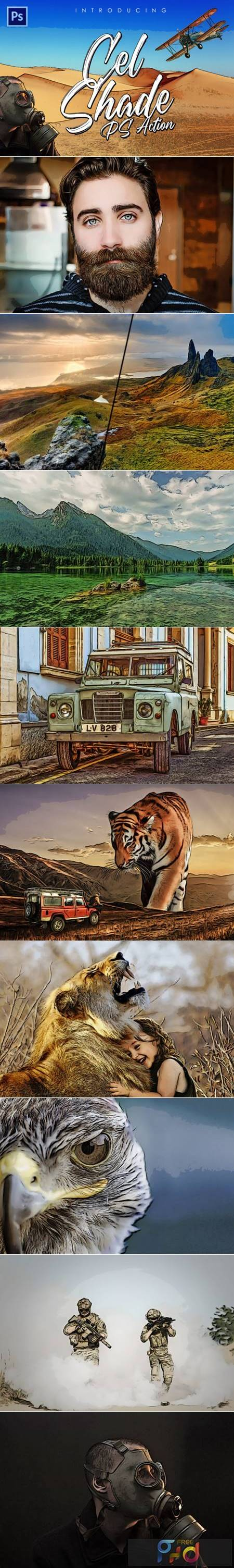 Cel-Shading Photoshop Action 6941374 1
