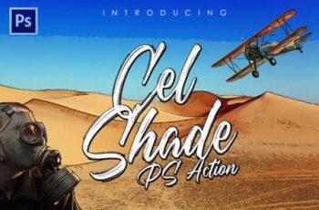 Cel-Shading Photoshop Action 6941374 7