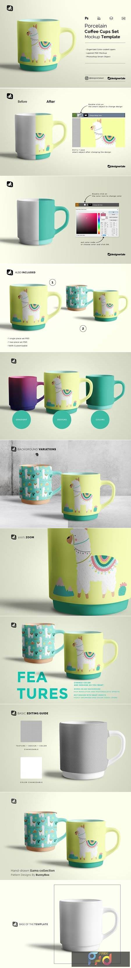 Porcelain Coffee Cups Set Mockup 5188654 1