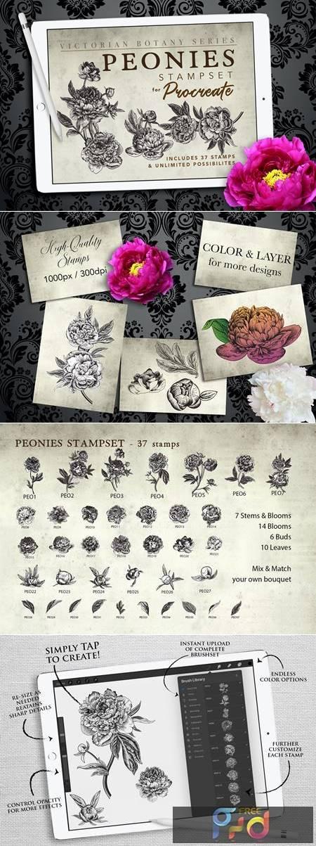 Procreate Peonies Stampset 4680116 1