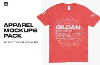 Gildan 64000 T-Shirts Mockups 5685183 5