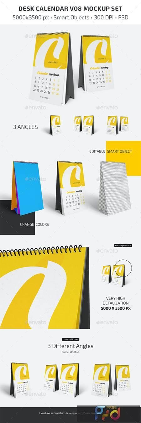 Desk Calendar v08 Mockup Set 29604899 1