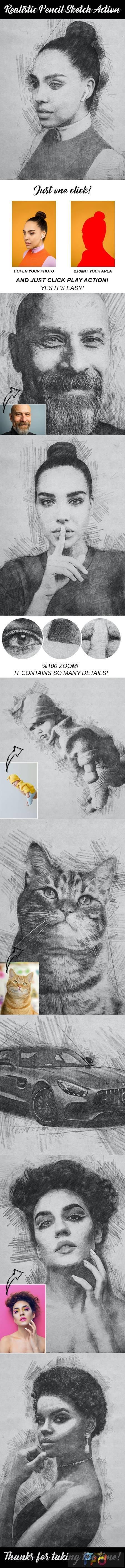 Realistic Pencil Sketch Action 28984168 1