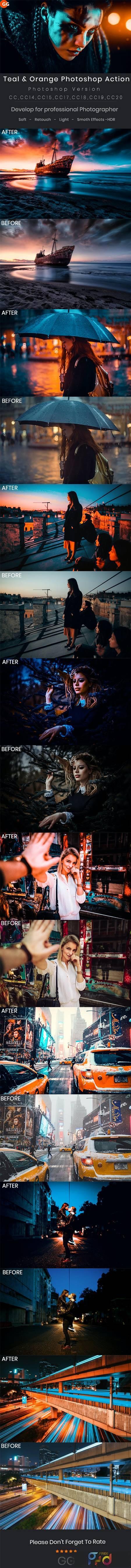 Teal & Orange Photoshop Action 28975559 1