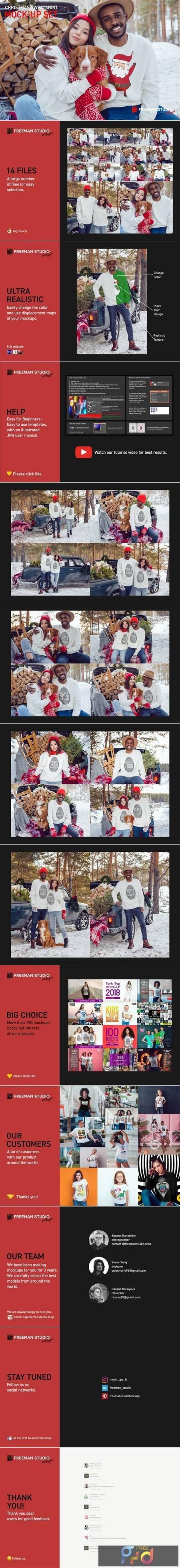 Christmas Sweatshirt Mock-Up Set 5632102 1