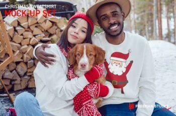 Christmas Sweatshirt Mock-Up Set 5632102 6