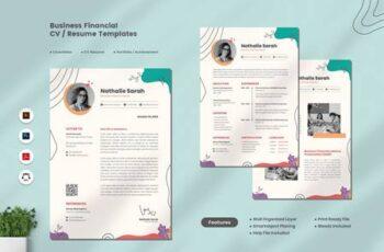 Business Financial CV Resume JW7AJDR 7