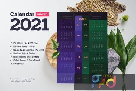 Calendar 2021 FH2MA4L 1