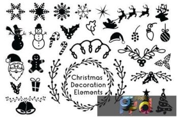 Christmas Decoration Elements - Christmas Cliparts 84BFZRN 14