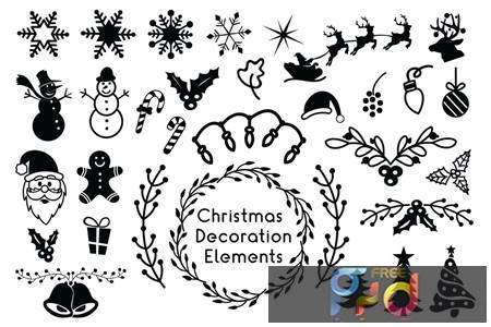 Christmas Decoration Elements - Christmas Cliparts 84BFZRN 1