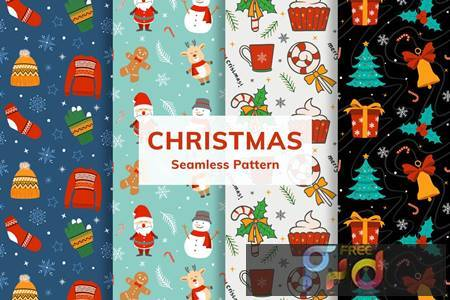 Christmas Seamless Pattern 9B3Z9HA 1