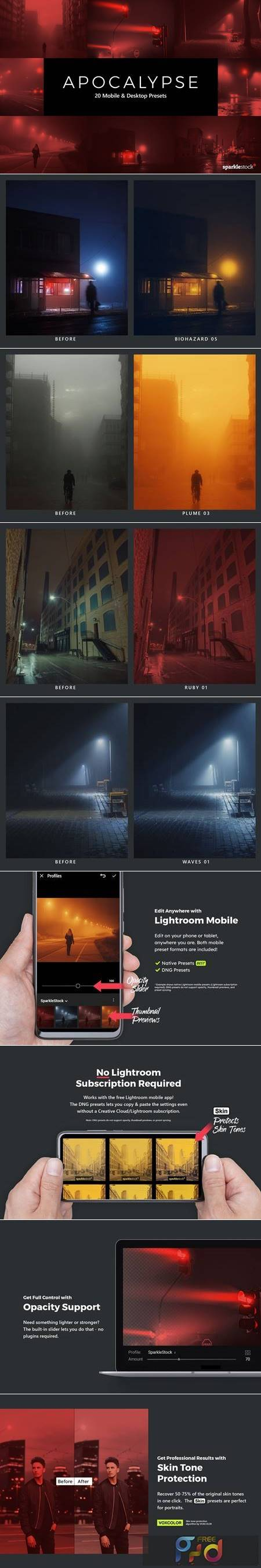 20 Apocalypse LR Presets and LUTs 5436510 1