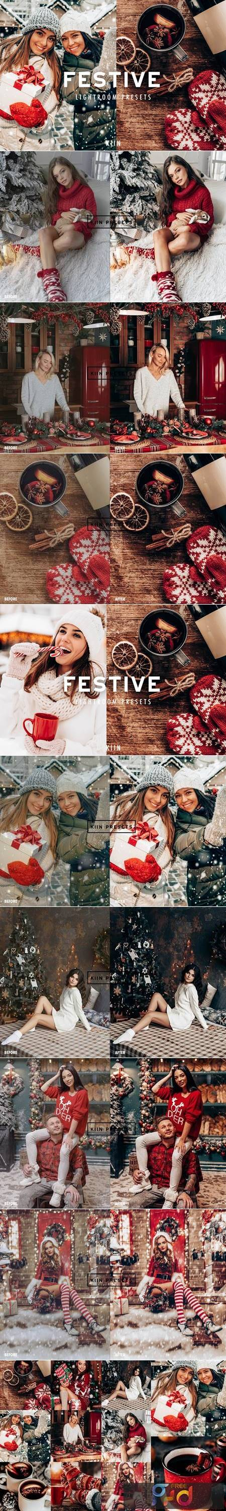 FESTIVE CHRISTMAS LIGHTROOM PRESETS 5634917 1