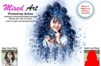 Mixed Art Photoshop Action 5461820 3