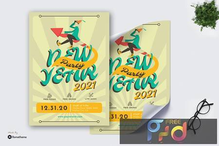 New Year Party 2021 - Poster GR QBFN7BY 1