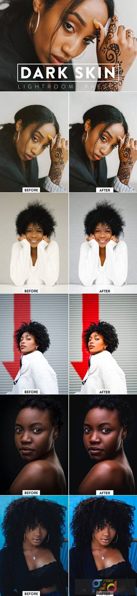 10 DARK SKIN Lightroom Preset 5468084 1