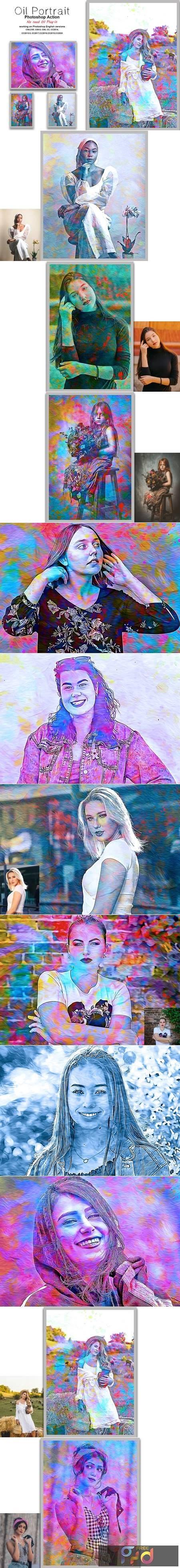Oil Portrait Photoshop Action 5413622 1