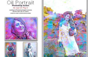 Oil Portrait Photoshop Action 5413622 7