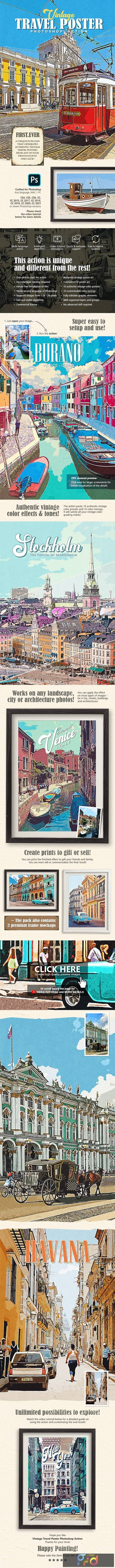 Vintage Travel Poster Photoshop Action 29146736 1