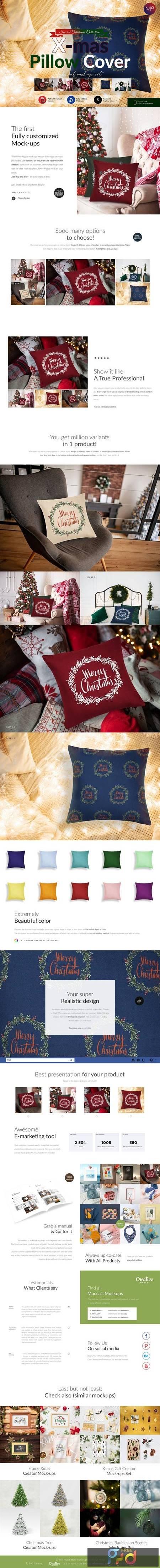 Christmas Pillow Cover Mock-ups Set 5613694 1