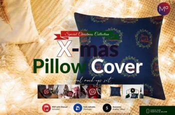 Christmas Pillow Cover Mock-ups Set 5613694 2