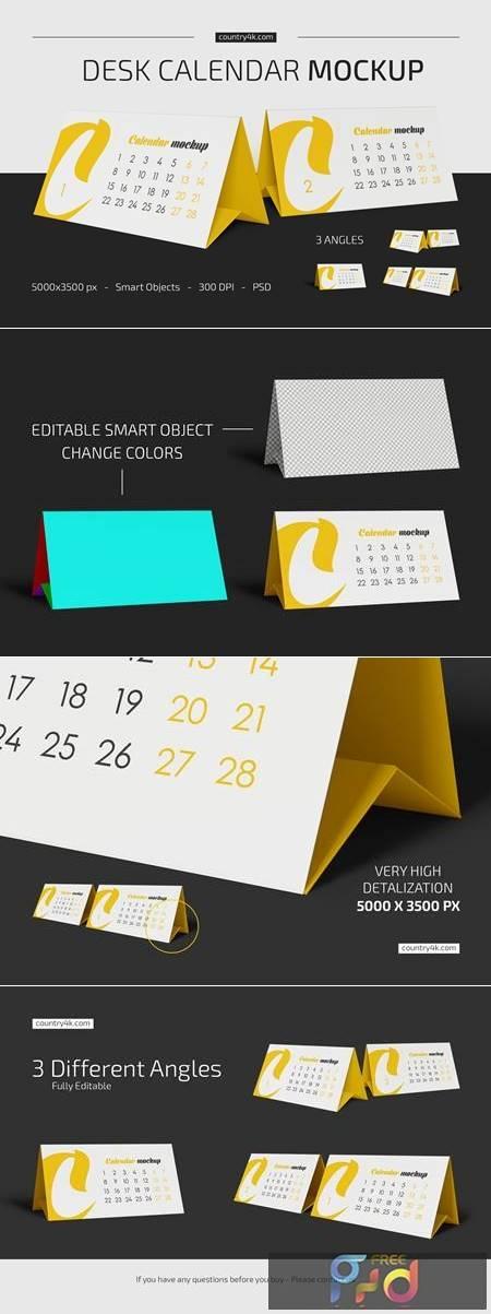 Desk Calendar v02 Mockup Set 5383640 1