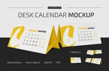 Desk Calendar v02 Mockup Set 5383640 12