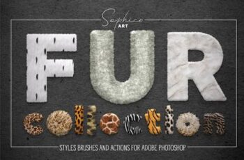Fur Styles, Actions, Brushes For Adobe Photoshop 29624574 6