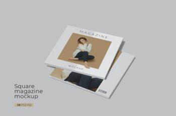 Realistic square magazine mockup WL9X7LC 6