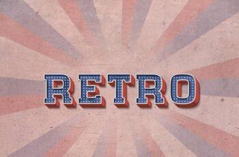 Retro Text Effect Set 3- 10 Photoshop Different Styles 29621607 2