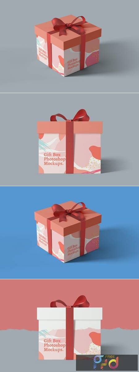 Gift Box Photoshop Mockups 6WK2SU2 1