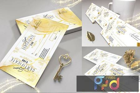Golden Gift Certificate N9QJKUJ 1