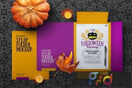 Halloween Autumn Stationery Flap Folder Mockup 96998E3 1