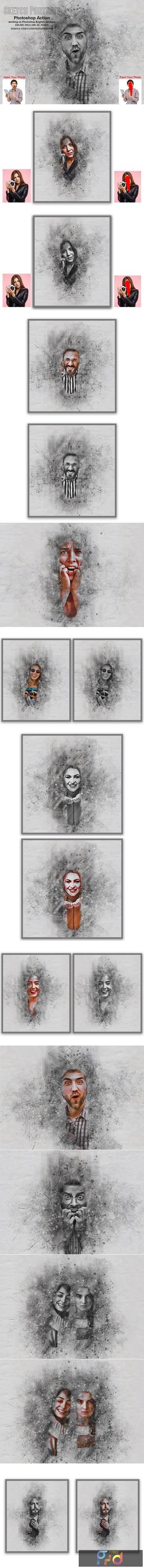 Sketch Portrait Photoshop Action 5552041 1