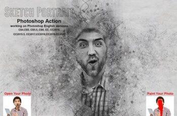Sketch Portrait Photoshop Action 5552041 6