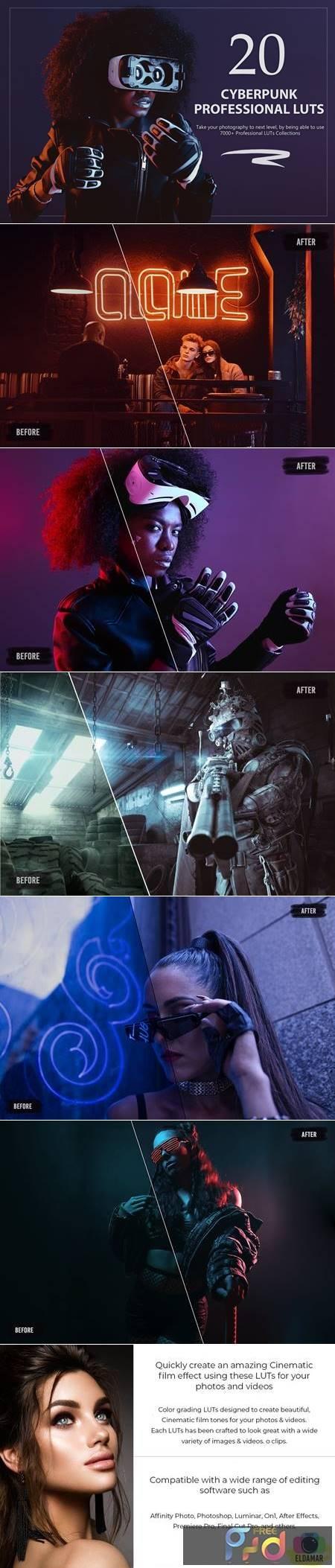 20 Cyberpunk LUTs Pack S7JANGE 1