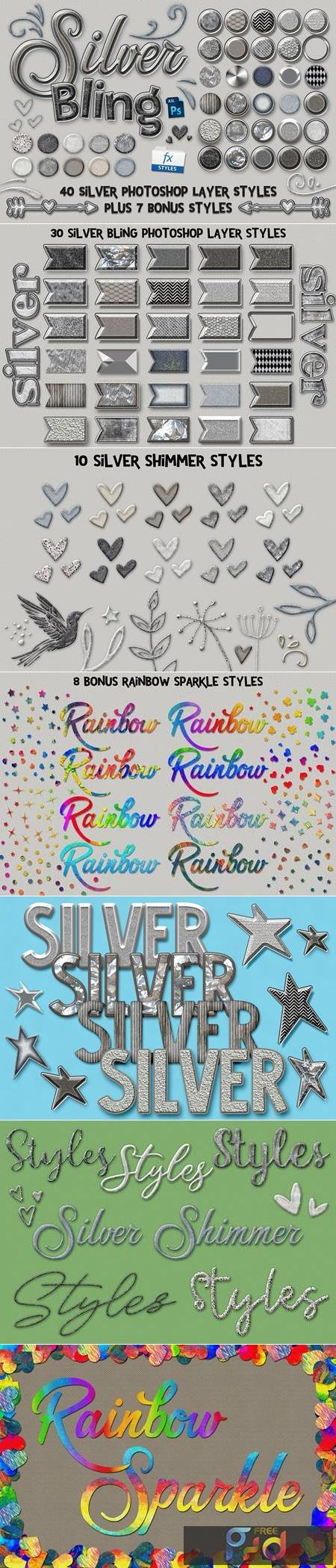 Silver Bling Photoshop Layer Styles 5115002 1