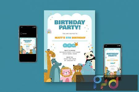 Kids Birthday Party Flyer Pack MGAER66 1
