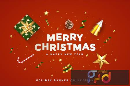 Merry Christmas and Happy New Year banner UXLL25F 1