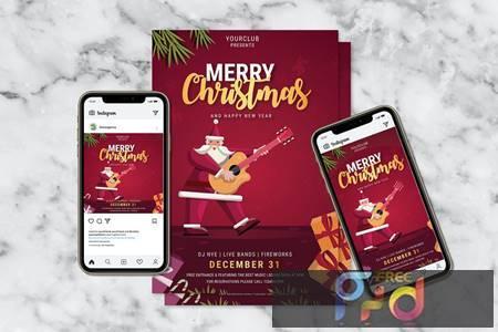 Merry Christmas Flyer & Instagram Post Design ETYWKAR 1