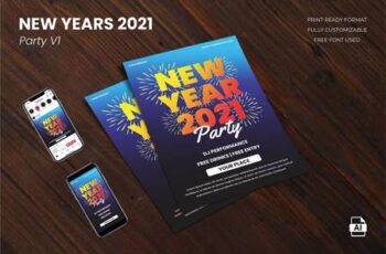 New Year Party 2021 Flyer Template Vol.01 GRRSU8A 1