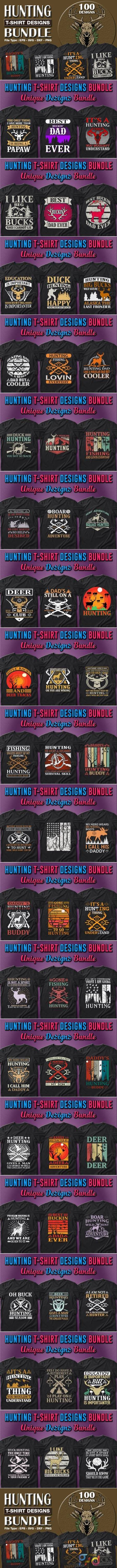 100 Hunting T-shirt Designs Bundle 7157428 1