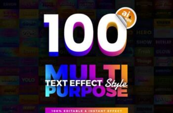 100 in 1 Bundle Multipurpose Text Effect 7153950 12