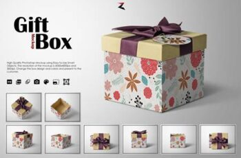 Gift Box Mockup 6K 5570092 12